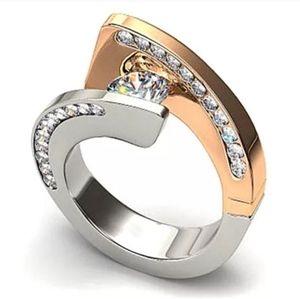 🎀18k & S925 White Sapphire Unique Ring